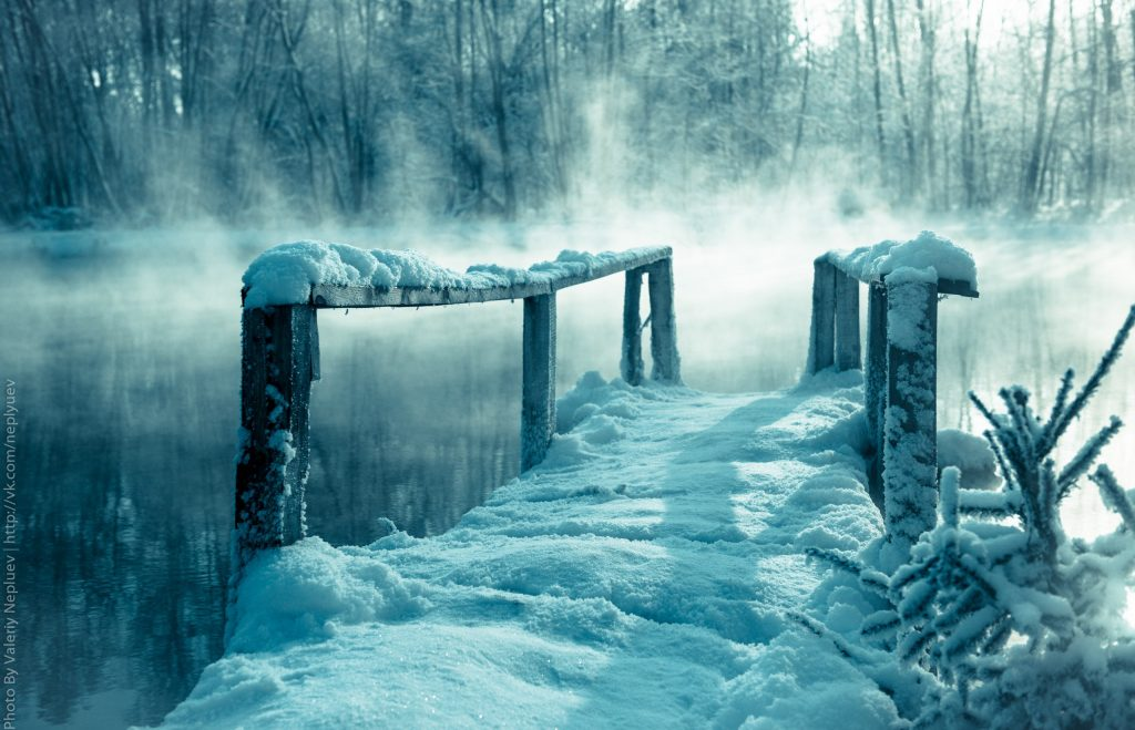 мостик для ныряния, голубые озера
